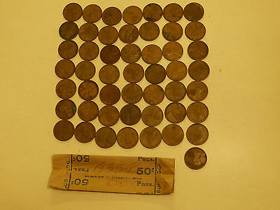 Full 50pc Roll 1935-P Lincoln Cents circulated