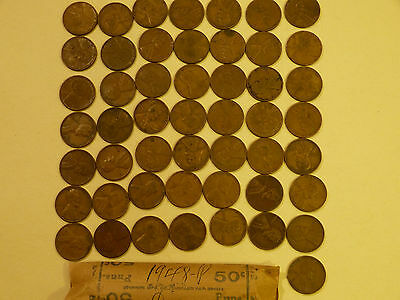 1948-P  Lincoln Cents circulated 50 pc roll