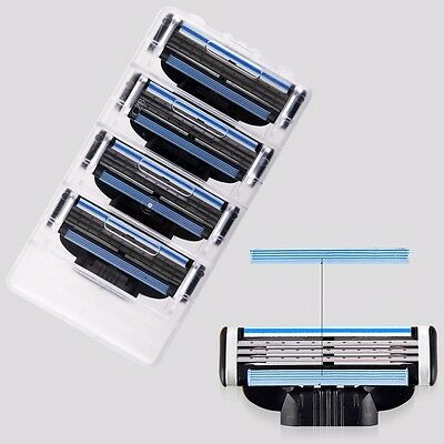 4pcs 3 Blades Razor Blades Machine Shave Hair Remove Shaving Blade Match For men