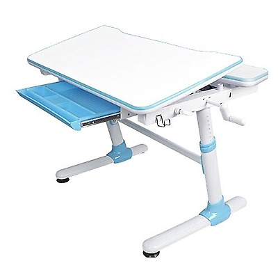 Ergovida Ergonomic Enlarged Surface Study Desk,Tiltable Desktop |E501 Blue|