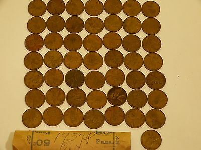 Full 50pc Roll 1937-P Lincoln Cents circulated