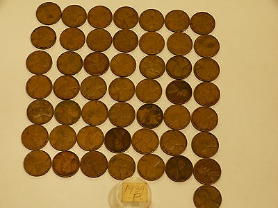 Full 50pc Roll 1939-P Lincoln Cents circulated