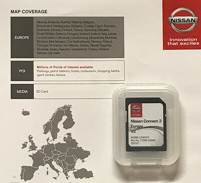 Genuine Nissan Connect 3 Lcn3 Navigation Sd Card 2017 Latest Map V2 Uk & Europe