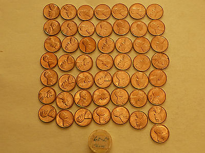 Full 50 pc Roll 1960-D Lincoln Cents   uncirculated
