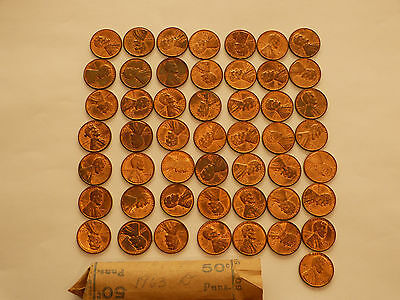 Full 50 pc Roll 1963-D Lincoln Cents   uncirculated