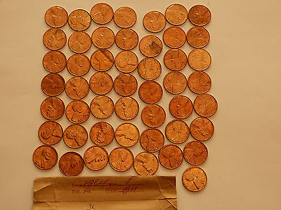 Full 50 pc Roll 1964-P Lincoln Cents   uncirculated