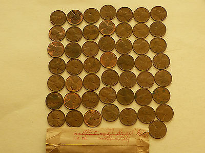 Full 50 pc Roll 1960-D Lincoln Cents Small Date