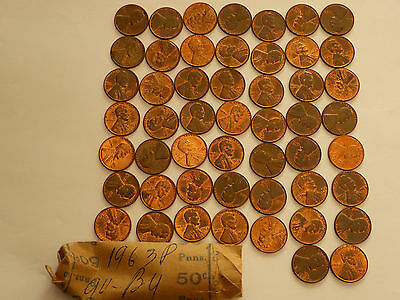 Full 51 pc Roll 1963-P Lincoln Cents   uncirculated