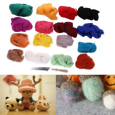 146Colors Needle Felting Starter Set Wool Felt Needles Felted Mat DIY Tools Kits
