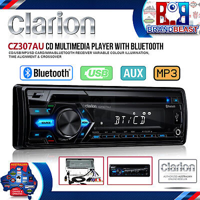 Clarion Cz307au Single Din 1-din Cd Usb Sd Bluetooth Car Audio Stereo Receiver