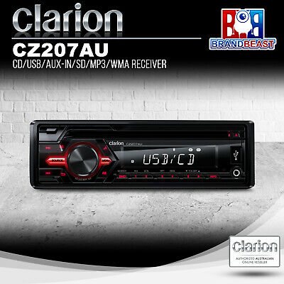 Clarion Cz207au 2017 Single Din 1-din Cd Usb Sd Am Fm Car Audio  Audio Receiver