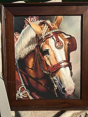 Draft Horse Painting Equestrian Painting Budweiser Horses Work Horse Picture