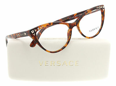New Versace VE3191 5074 Women  Eyeglasses Frames Havana Authentic 52mm Fast Ship