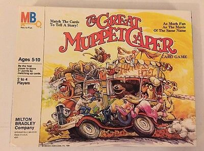 Milton Bradley The Great Muppet Caper Card Game Complete #4201