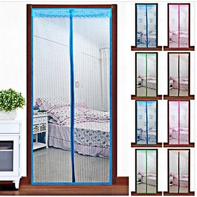 Mesh Door Magic Curtain Net Magnetic Snap Fly Bug Insect Mosquito Screen Y8