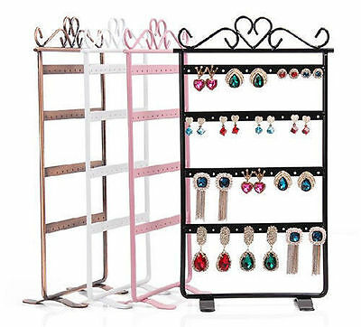 48 Holes Plastic Earrings Display Show Jewelry Rack Stand Organizer Holder Y8