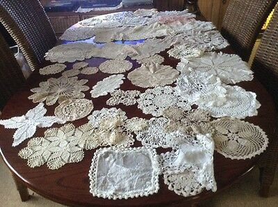 Vintage Chrochet  Medium/ Large / Small Doilies X 40 Lo H