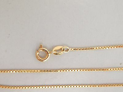 """Fine 18ct 750 Gold 16"""" square link necklace 3.6g"""