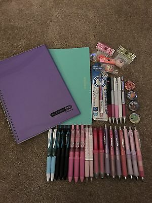 Lot Of Japanese Stationery Uni-ball, Pilot, And Zebra Limited Edition And Rare