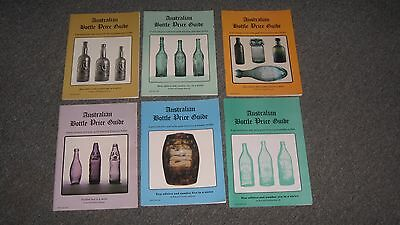 Set Of 6 Australian Bottle Price Guide Books 1990