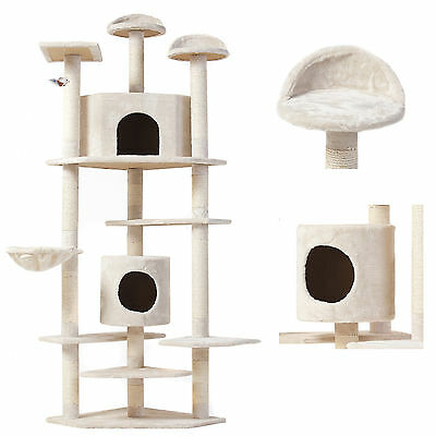 High Quality Cat Tree Condo Furniture Scratching Post Pet Cat Kitten House 80""