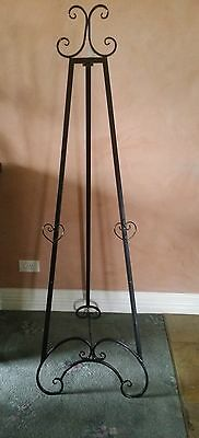 Easel 157 Cm High Antique/vintage Black / Wedding / Photo/painting Display New