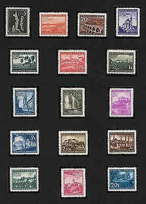 LAIBACH 1945 VIEWS Mi 45/60 SUPERB MNH** SET POST OFFICE FRESH - SIGNED