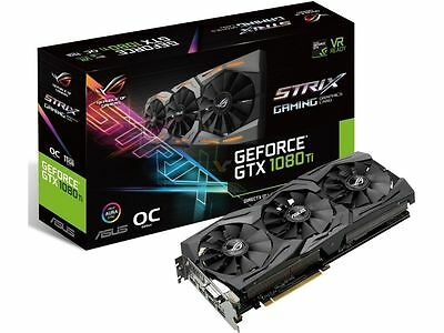 Asus nVidia GeForce GTX 1080 Ti ROG Strix OC 11GB Gaming Graphics Video Card