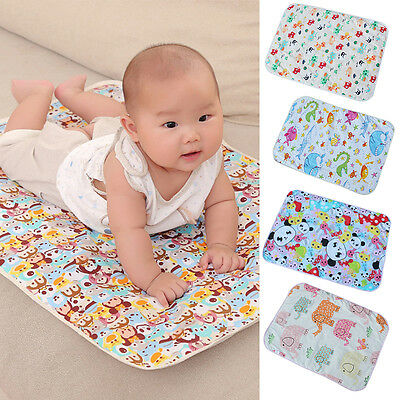 Cartoon Soft Baby Infant Waterproof Cotton Urine Mat Cover Burp Change Pad 30*45