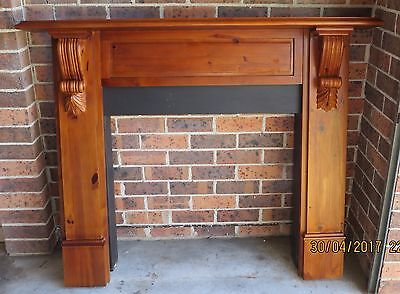 Fireplace mantle with metal insert