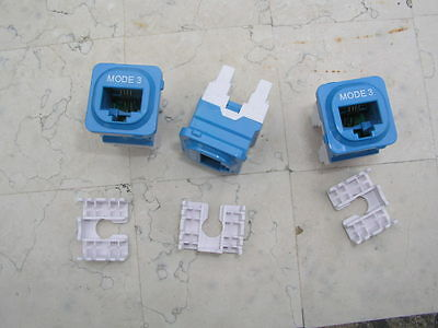 Mode 3 rj 12 mechanism for phone/security connections. 3units, New.