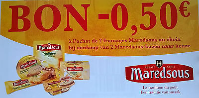 Maredsous : 10 x - 0,50 € (val. 31.12.18)