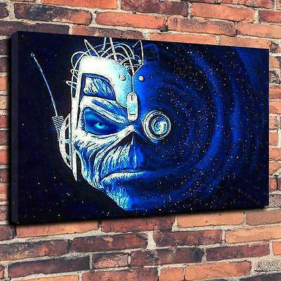 """Iron Maiden Eddie Wasted Years Printed Canvas Metal A1.30""""x20""""~Deep 30mm Frame"""