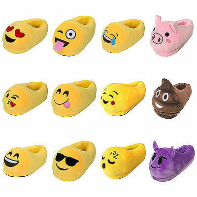 Emoji Style Unisex Slippers Warm Winter Home Shoes Indoor Slippers Plush Slipper