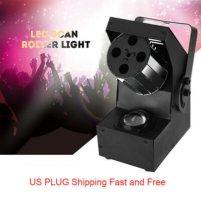 Active RGBWY 5 in 1 LED DMX Stage Light Disco Club DJ Party Scan Roller Light