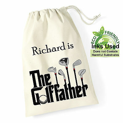 Personalised Golf Ball Bag Pop Grandad Dad Uncle Brother Birthday Christmas Gift