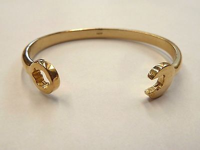 New 9ct Solid Gold Heavy Child's Spanner Bangle 10.8 grams