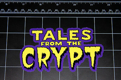 Tales From the Crypt 80's 90's retro decal sticker Horror Halloween crypt keeper