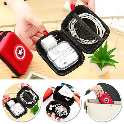 Portable Earphone Bag Coin Purse Headphone Case Cable Storage Box For Charger Ba
