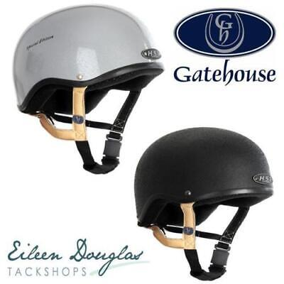 Gatehouse HS1 Jockey Skull - Black & Silver - All Sizes