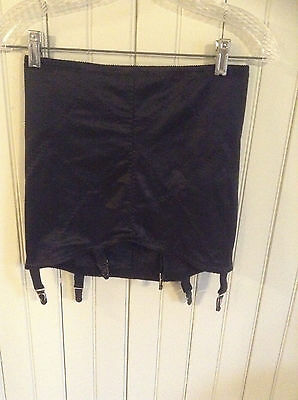 Vintage 6003 Venus black open bottom girdle w/ 6 garters size XL