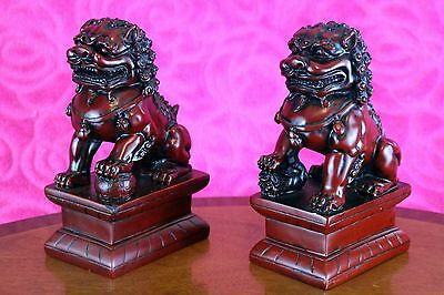 Feng Shui Pair Shoushan Foo Dogs/Temple Lions/ Fu Lion 16.5 cm