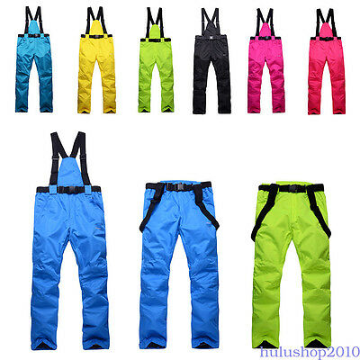Women Men Ski Pants Snowboard Trousers Skiing Snowboarding Snow Chill-proof LM0H
