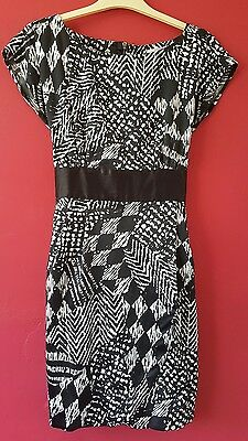Black and White Formal Red Herring Dress Size 12