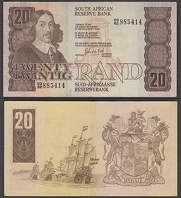 South Africa 20 Rand 1982-85 in (VF+) CRISP Banknote P-121c