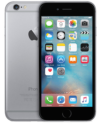 New Apple iPhone 6 16GB Space Grey Network Unlocked Smartphone Touchscreen 4G