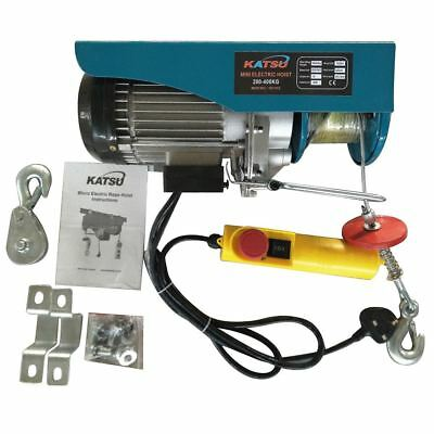 181312 Scaffolding Winch Electric Workshop Garage Gantry Hoist 400kgs 1000W
