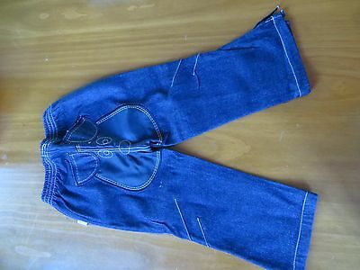 Wikidz size 3 jeans unisex with cute dog face detail