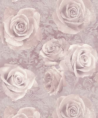 Arthouse Luxury Reverie Floral Rose Blush Pink Motif Quality Wallpaper 623302