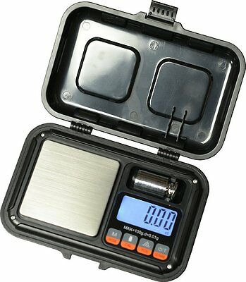US-Rugged Digital Pocket Scale 100g x 0.01g Jewelry Gold Gram Herb Karat Weight